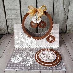 Julekort med Maja papir og Craft & You design