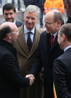 Prince Philippe of Belgium (centre L) and Prince Albert II of Monaco (centre R) attend the 1st Interdisciplanary Congress at the Palais des Congres on 31 Jan 2013 in Namur