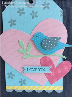 Handmade journaling card, Stampin' Up! Bird Builder punch, Stampin' Up! Itty Bitty Banner, Stampin' Up! My Friend, Stampin' Up! Summer Silhouettes
