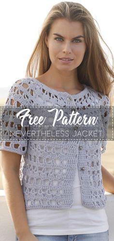 Nevertheless Jacket – Pattern Free – Easy Crochet Crochet Shirt, Crochet Jacket, Crochet Cardigan, Knit Or Crochet, Jacket Pattern, Crochet Fashion, Beautiful Crochet, Crochet Clothes, Mantel