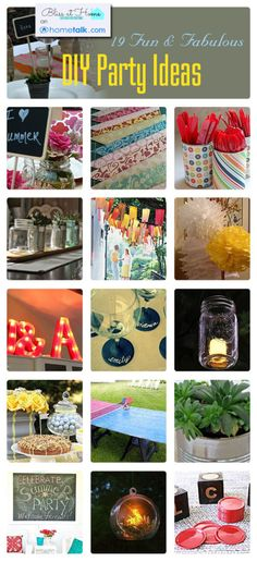 Hometalk + Bliss at Home >>> Lots of DIY Party IdeasHowdy friends! Hometalk approached me recently to curate a board with my favorite DIY party ideasan…View Post