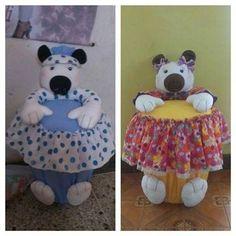 Cestas para bebé decoradas - Imagui