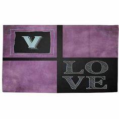 Thumbprintz Chalkboard Monogram Purple Rug