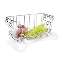 Image for Small Chrome Stack Basket from Kmart Rectangular Baskets, Square Baskets, Large Baskets, Pantry Organisation, Cupboard Storage, Storage Units, Organization, Organizing, Home Entertainment