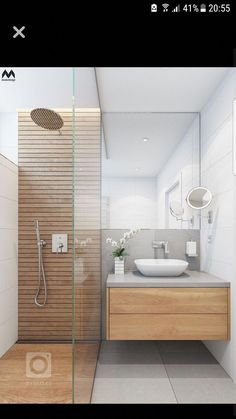 Kleines Badezimmer bathroom wood smallspaces bathroom bathroom for bathroom small spaces Kleines Badezimmer bathroom wood smallspaces bathroom bathroom Wood Bathroom, Bathroom Layout, Bathroom Colors, Bathroom Interior Design, Modern Bathroom, Small Bathroom, Master Bathroom, Tile Layout, Bathroom Ideas