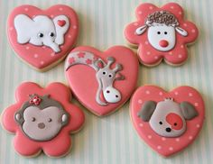Animal face cookies by Miss Biscuit