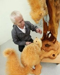 Unique Crafts, Wood Chips Animal Sculptures from Sergey Bobkov Art And Illustration, Chip Art, Wooden Animals, Animal Sculptures, Wood Sculpture, Tree Art, Art World, Unique Art, Wood Art