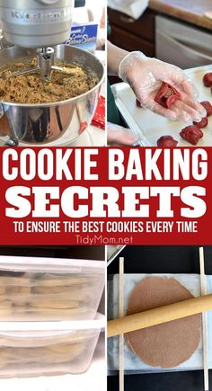 There are a few cookie baking secrets and tips I've learned over the years for making the best cookies. Traditionally, cookies are fairly simple, many cookie recipes use basically the same dough, varying proportions of ingredients slightly. Because these cookies are so simple with little margin for error, if you follow the directions carefully along with these cookie baking secrets it will help ensure your cookies are the best every time. Click to learn more at TidyMom.net