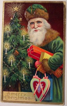 Old World Santa with gifts