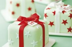 All wrapped up apricot and orange christmas cake