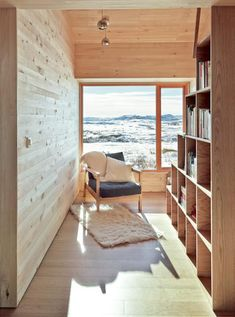 Great combination of wood and a view!