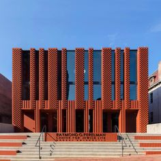 Natoma Architects has created a Hillel House for Drexel University, with a brick facade designed to reference lampstands used in Jewish homes and temples.