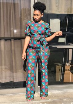 Stunning Ankara Tops And Trouser Styles For Super Ladies Latest African Fashion Dresses, African Inspired Fashion, African Dresses For Women, African Print Dresses, African Print Fashion, African Attire, African Wear, Ankara Fashion, Nigerian Fashion