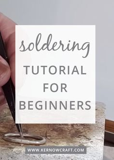 Kim Thomson explains the basics of soldering your handmade jewellery pieces. Explaining the different grades of solder strip, important tips to remember when. Soldering Copper Pipe, Soldering Jewelry, Jewelry Tools, Metal Jewelry, Jewelry Crafts, Jewelry Art, Handmade Jewelry, Soldering Iron, Jewlery