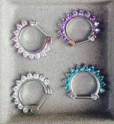 Hey, I found this really awesome Etsy listing at https://www.etsy.com/listing/217588190/16g-diamond-septum-clickers-choose-color