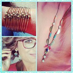 Premier Designs 2016-2017 - Pop Art necklace and earrings and Slinkie bracelet