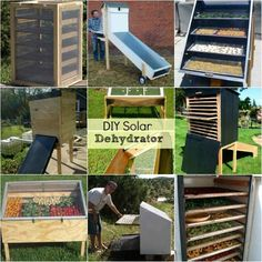 18 Best DIY Solar Dehydrators   They are really simple and cost-effective to make. If you have lots of produce to dehydrate, you'll also appreciate making a larger sized dehydrator to get the work done more quickly.