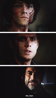 [gifset] Supernatural 1x16 Shadow | That bit killed me. I couldn't believe John just had the gall to act as if nothing was wrong while HIS SONS were BLEEDING TO DEATH on the floor of a ABANDONED WAREHOUSE where they were nearly killed by A DEMON.