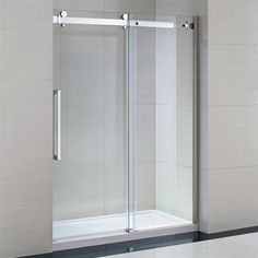 ove decors sierradb frameless sliding shower door and base