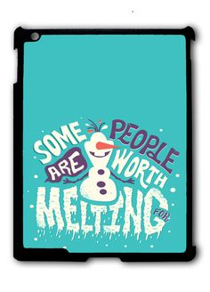 Frozen Collage Olaf Quotes iPad case, Available for iPad 2, iPad 3, iPad 4 , iPad mini and iPad Air