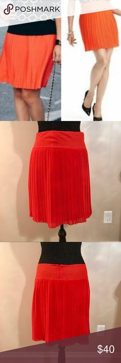 NWT Orange Pleated Mini Skirt by Ann Taylor LOFT Brand new orange Pleated skirt by LOFT. No flaws. Fits true to size. Great for work, dinner or cocktails. No trades. Reasonable offers accepted. LOFT Skirts Mini