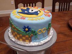 Sonic The Hedgehog Cake Sonic Birthday Cake, Sonic Cake, 5th Birthday, Birthday Ideas, Sonic The Hedgehog Cake, Cakes For Boys, Cake Kids, Sonic Party, Hedgehog Birthday
