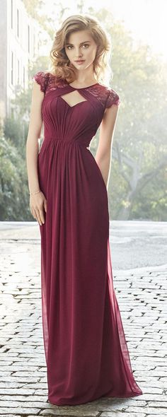 2017 Vintage Bridesmaid Gown, Elegant Cheap Cap Sleeves Lace Chiffon Long Bridesmaid Dress Burgundy Wedding Party Formal Gown- color only Vintage Bridesmaids Gowns, Burgundy Bridesmaid Dresses Long, Vintage Dresses, Burgundy Wedding, Bridesmaid Gowns, Lace Wedding, Gown Wedding, Burgundy Gown, Wedding Dresses