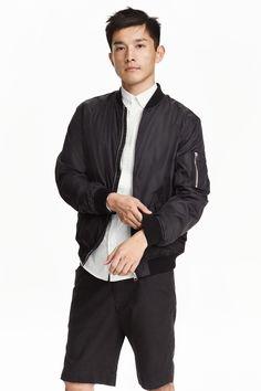 H&M Black Bomber Jacket