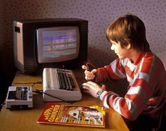 """The Commodore 64. Back in the good ol' times, when computers were still """"happy""""."""