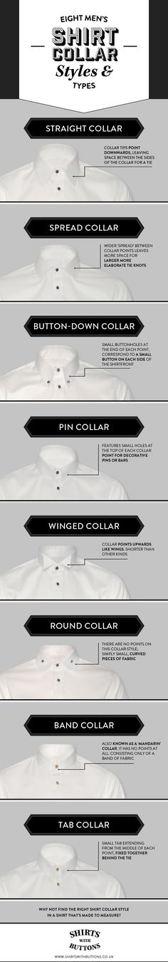 Eight Men's Shirt Collar Styles & Types | Shirts with Buttons www.shirtswithbutton.co.uk