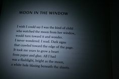 Moon In The Window | Dorianne Laux
