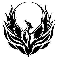 pheonix tattoo black and white...mindful of sizing but this could be good