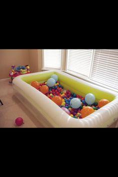leuk idee voor in de peuterklas tijdens het thema ballonnen