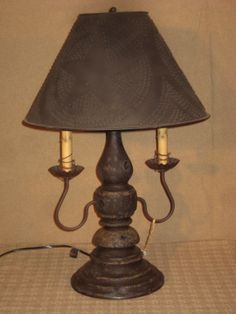 2 Arm Liberty Lamp   SKU: KLH51   $258 The Greatest Table Lamp From Katies  Lighthouse Painted In Their Museum Quality Primitive Grungy Black Over A  Dark ...