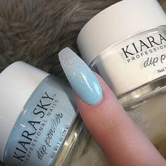 Kiara Sky – Iceberg Dip Powder Let your nails sparkle like falling snow with this icy multi-colored holographic dip powder. Beautiful nails by creative_touch_training_salon A post shared by KIARA SKY™ NAIL PRODUCTS (Kiara Sky Nails) on May 2017 at PDT Gel Powder Nails, Acrylic Nail Powder, Acrylic Nails, Dipping Powder Nails Colors, Color Powder Nails, Manicure, Sky Nails, Sns Dip Nails, Christmas Nails