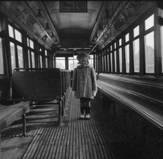 Toronto Transit Commission, Interior, at Wychwood carhouse, 1953 At the barns! Toronto, Past, Canada, Black And White, History, City, Pictures, Photos, Places