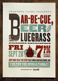 Bar-Be-Cue Invitation or Poster