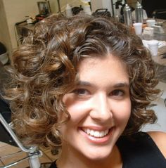 Elegant short curly hair style - Cute Short Curly Hair Styles, Think after Kendal is born I will try this.