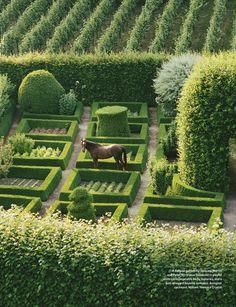belgian garden -Every garden should have a horse in it!