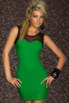 Trendy Sweetheart Bodycon Dress Green  c7deb11a5