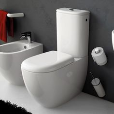 Art Ceram | Serie File | bodenstehendes WC mit Spülkasten | (falscher WC-Sitz)