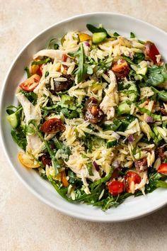 Lemon Orzo Salad, Orzo Salad Recipes, Pasta Recipes, Chicken Recipes, Dinner Recipes, Noodle Recipes, Casserole Recipes, Meat Recipes, Dessert Recipes