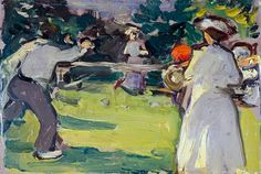Game of Tennis, Luxembourg Gardens Art Prints by Samuel John Peploe - Magnolia Box