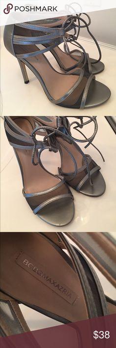 BCBGMAXAZRIA SILVER HEELS Perfect condition. Worn once. BCBGMaxAzria Shoes Heels