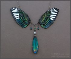 do want! [leather magpie wings necklace - windfalcon @ dA]