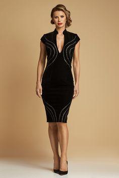 Rochie Midi Conica din Catifea Lines Aw 2017, Dress Making, Evening Dresses, Bodycon Dress, Fashion, Evening Gowns Dresses, Moda, La Mode, Evening Gowns