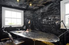 Chalked Interior Work, Interior Architecture, Shared Rooms, Film Director, Office Interiors, Interior Design Inspiration, Home Office, London, House