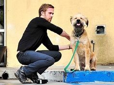 Ryan Gosling.  He loves his dog!