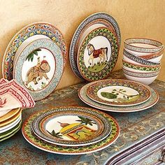 Voyage Dinnerware Set by minnie-  This is interesting for a party