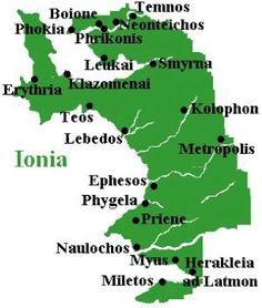 Map of ancient Ionia